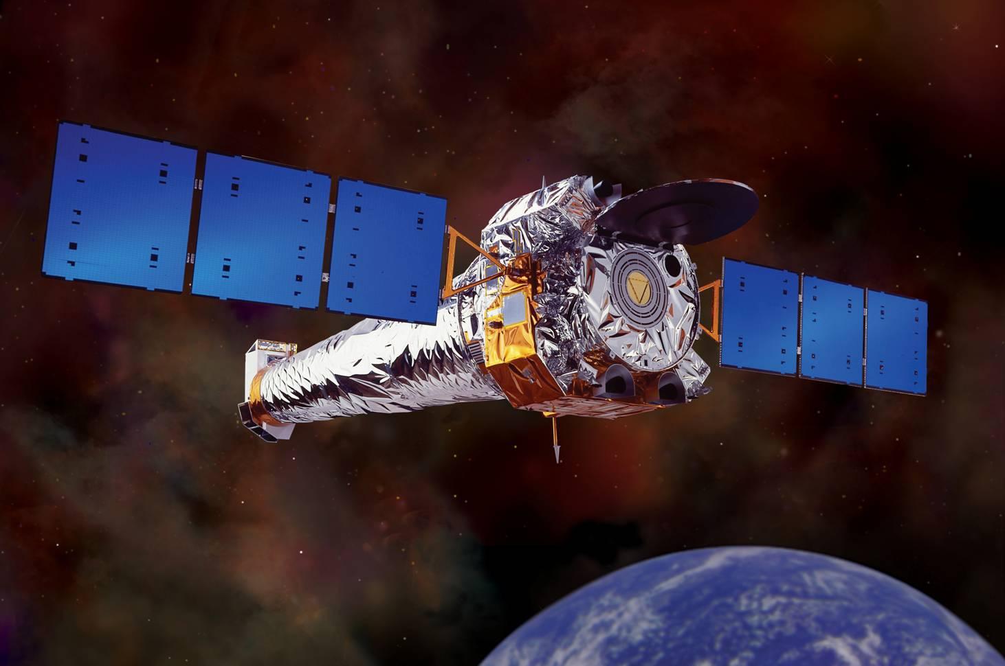 Rentgenová observatoř Chandra. Kredit: NASA.