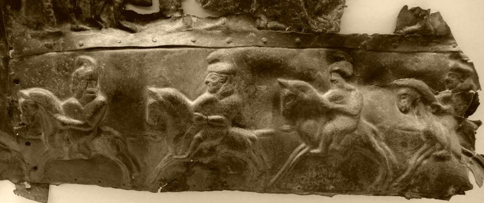 Asyrský bronz v řeckém použití, 7. století před n. l. Archeologické muzeum v Olympii. Kredit: Wikimedia Commons.