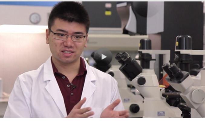Mardonn Chua , biochemik, expert na kultivaci kmenovĂ˝ch bunÄ›k. Spoluzakladatel Ava Winery (Screen shot videa UBC)