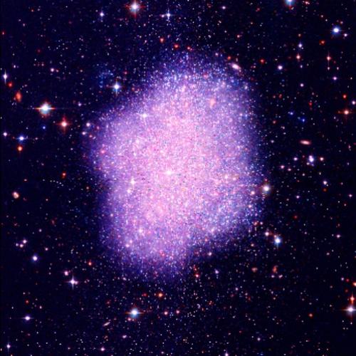 Temná hmota tvořená simpy v galaxii. Kredit: Kavli IPMU