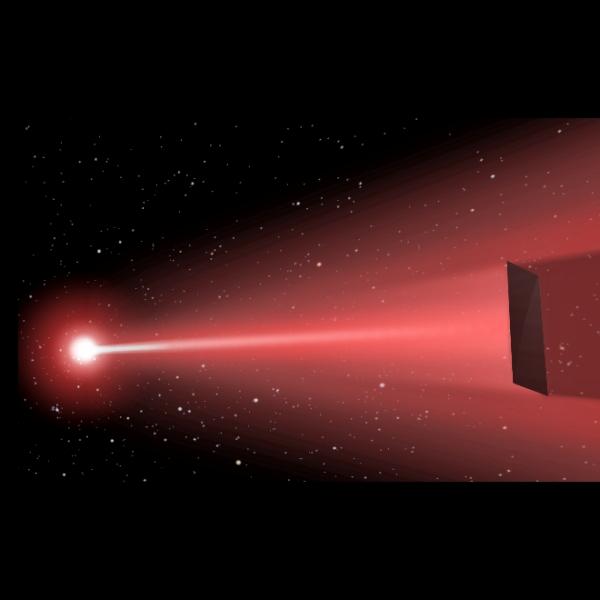 Mezihvězdné cestování na laseru. Kredit: Q. Zhang / UCSB.