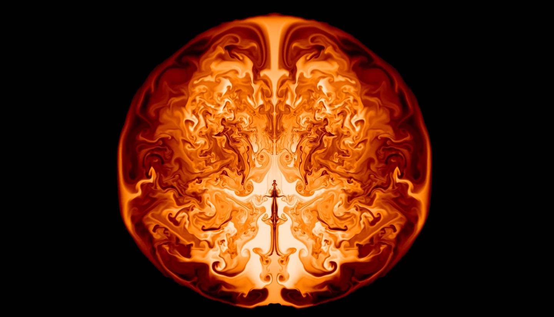 Simulace supernovy megahvězdy mladého vesmíru. Kredit:  Ke-JungChen/Minnesota InstituteforAstrophysics