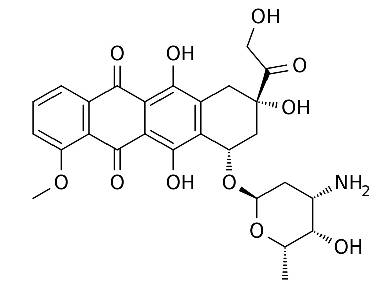 Doxorubicin. Kredit: Fuse809 / Wikimedia Commons