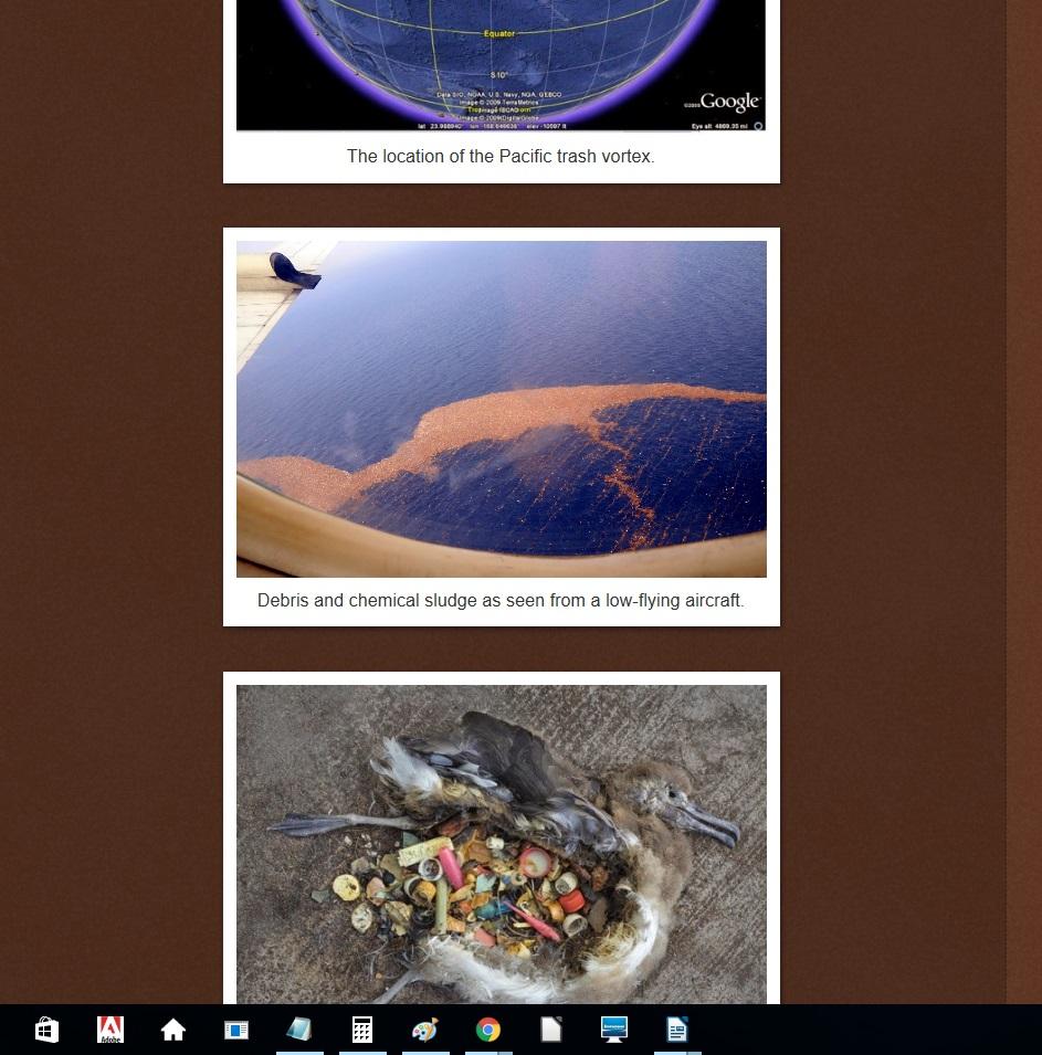 """Druhý z obrázků u něhož je v hoaxu popiska: """"Radioaktivní trosky z Fukušimy připlouvají k severoamerickému západnímu pobřeží."""" Je ve skutečnosti také něco zcela jiného. O co ve skutečnosti jde je správně uvedeno například"""