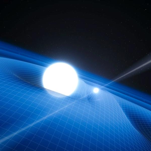 Pulsar sextrémním společníkem. Kredit: NASA/Caltech