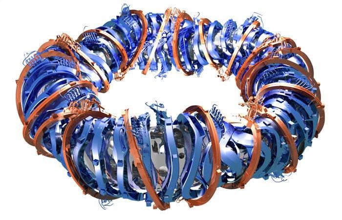 Design stellarátoru Wendelstein 7-X. Kredit: IPP.