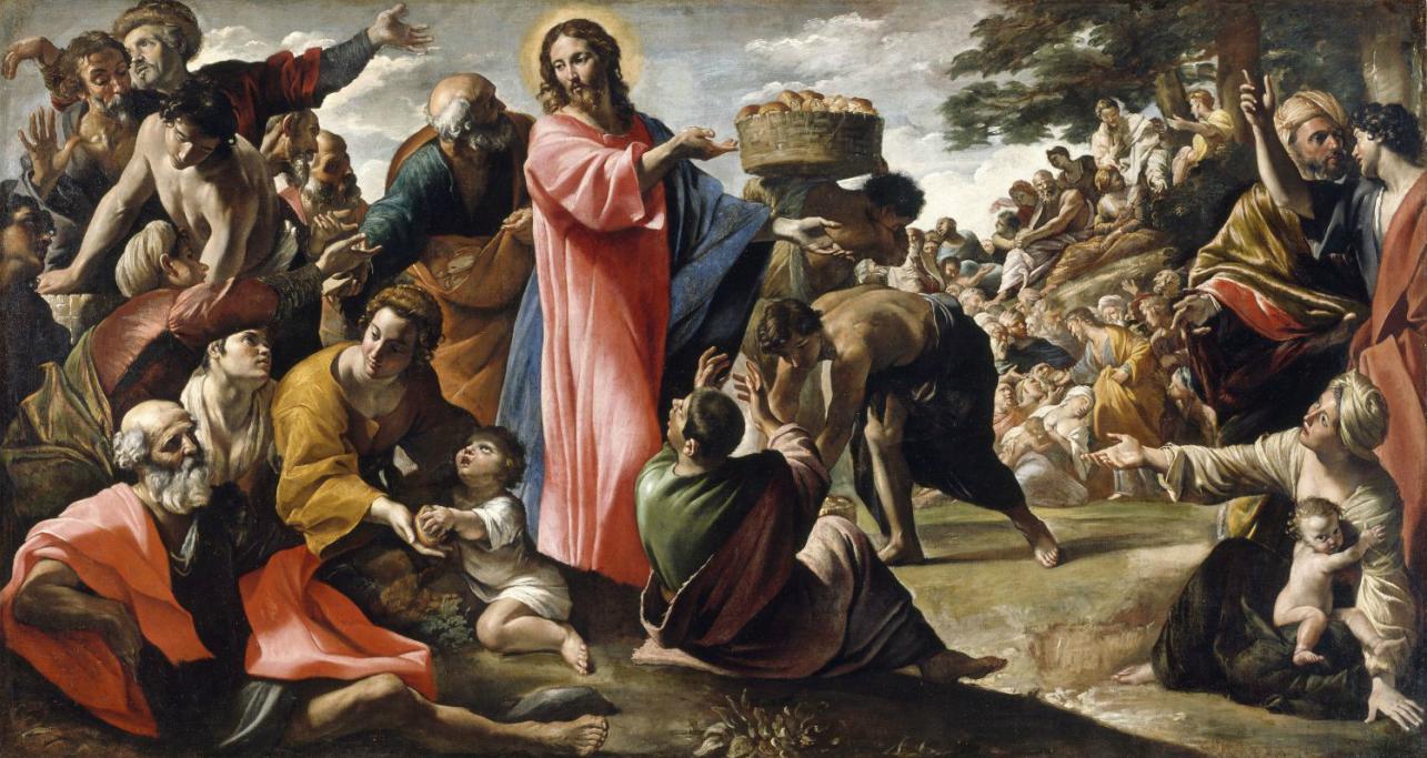 Brzo nás na světě bude tolik, že k nasycení hladových by se nějaký ten zázrak hodil. Kredit: Giovanni Lanfranco, 1620-1623. Galería Nacional de Irlanda.