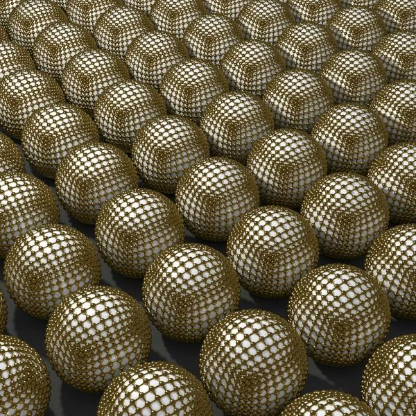 Schema nanočástic zlata vyrobených světlem. Kredit: University of Florida.