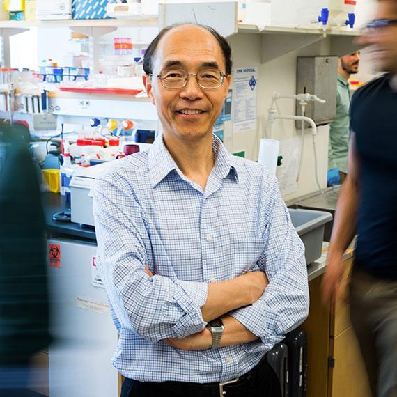Guoping Feng, třetí z hlavních spoluřečitelů úkolu a autorů studie. MIT, Zhejiang University School of Medicine. Kredit: MIT.