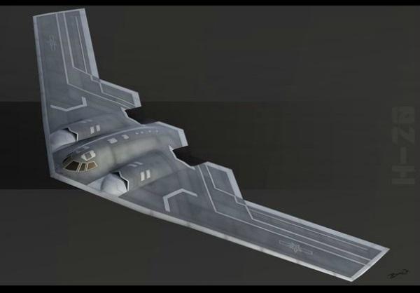 Futuristický strategický čínský bombardér H-20. Kredit: Bai Wei.