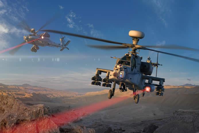 Vrtulníky slasery přilétají. Kredit: Raytheon.