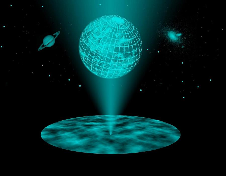 Vesmír jako hologram. Kredit: TU Wien.