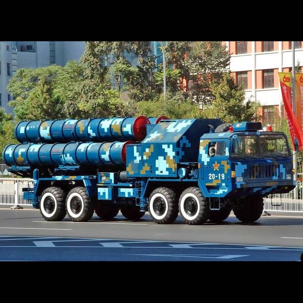 Čínský protiletadlový systém HQ-9 proti cílům ve středních a velkých výškách. Kredit: Jian Kang / Wikimedia Commons.