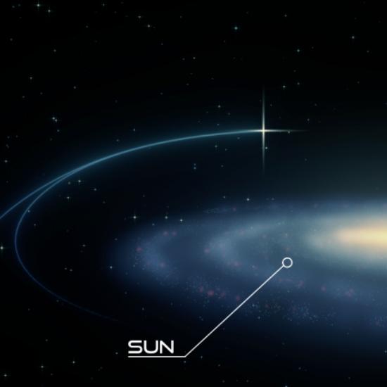 Splašená dvojhvězda PB3877. Kredit: Thorsten Brand / W. M. Keck Observatory.