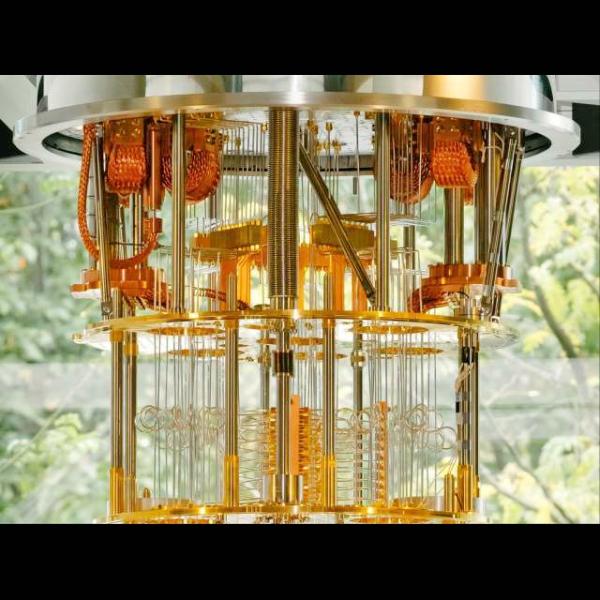 Kryostat IBM se systémem o 50 qubitech. Kredit: IBM.