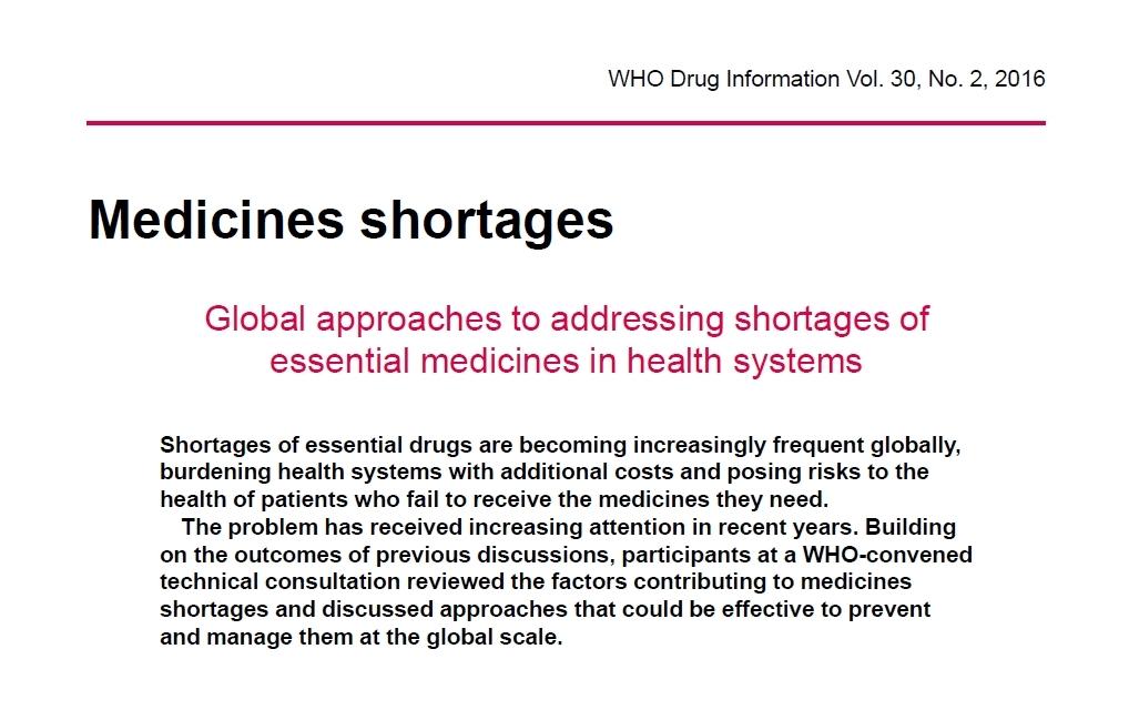 Chýbaním liekov sa zaoberá aj Svetová zdravotnícka organizácia.