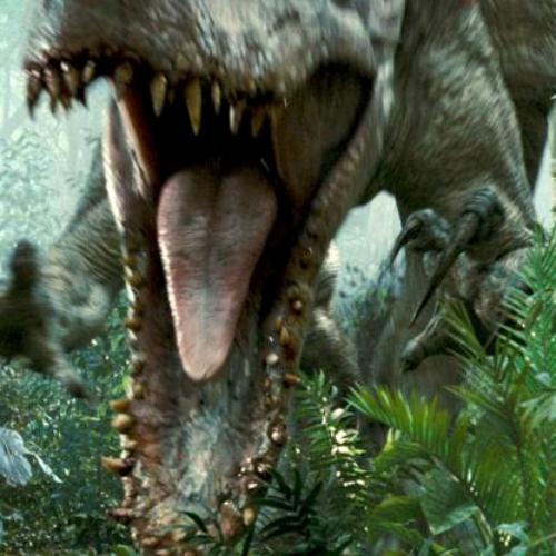 sme na dohled GM dinosaurů, jako je Indomius rex znového Jurského světa? Kredit: Universal Pictures.