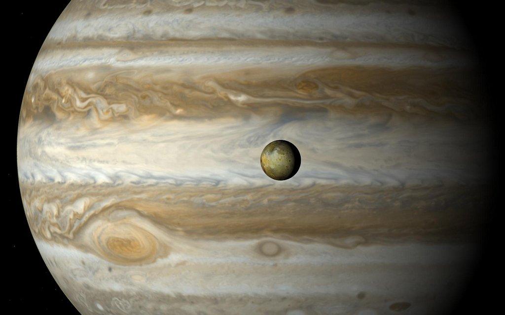 Měl Jupiter nějaké plunety? Kredit: Guillermo Abramson.