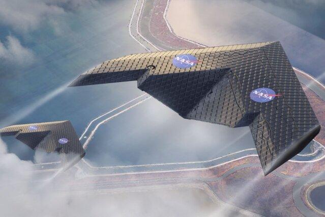 Nová konstrukce v praxi v podání umělce výzkumného centra NASA Ames.Kredit: Eli Gershenfeld.