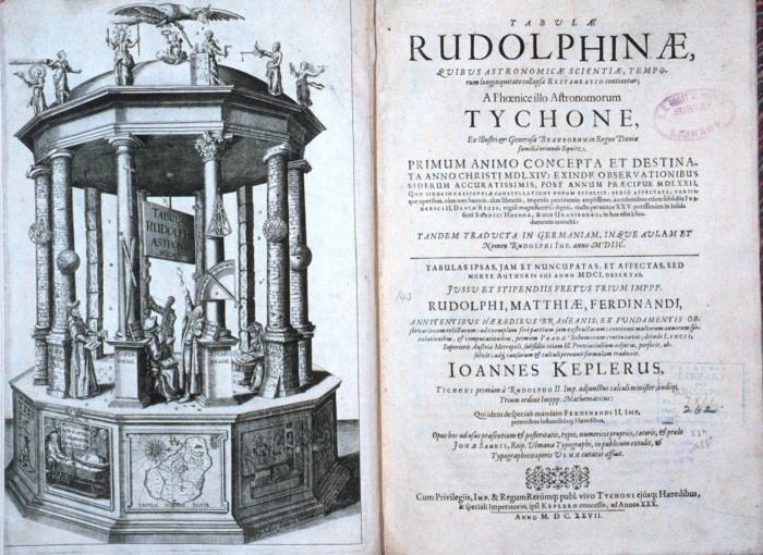 Katalogizaci hvězd a planet podle měřeníTychona de Brahe provedl Johannes Kepler v roce 1627 a uveřejnil v Rudolfínských tabulkách. O jejich vlastnictví tehdy Katalogizaci hvězd a planet podle měřeníTychona de Brahe provedl Johannes