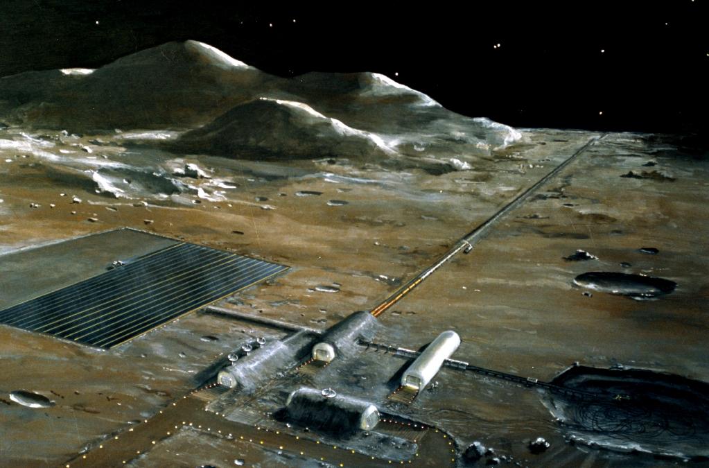 Základna na Marsu v představě NASA.