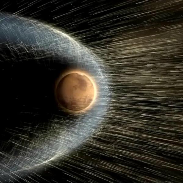 Magnetické pole by se Marsu skutečně hodilo. Kredit: NASA.