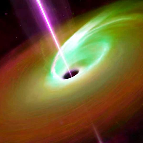 Jak asi vypadalo zrozenĂ gravitaÄŤnĂch vln zachycenĂ˝ch na LIGO? Kredit: Mark A. Garlick.