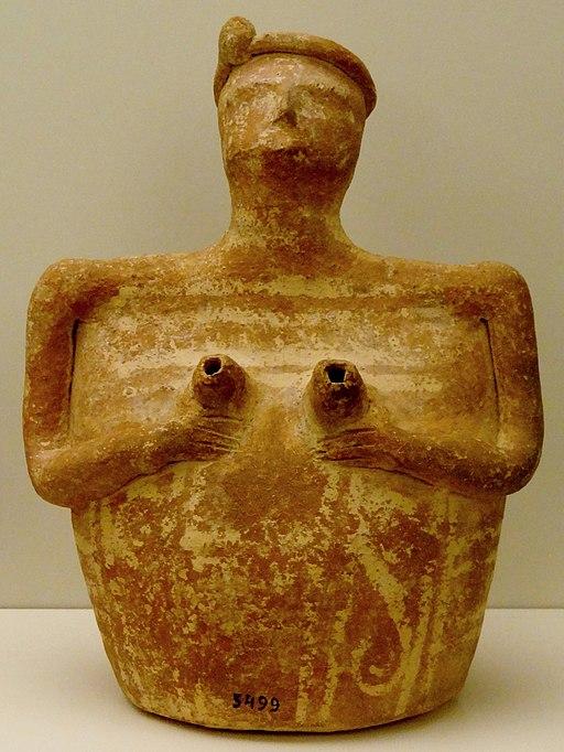 Rhyton zhrobu u Mochlos. Předpalácové období (raně minojské období III), 2300-2000 před n. l. Archeologické muzeum vIrakliu (Heraklion). Kredit: Olaf tausch, Wikimedia Commons.