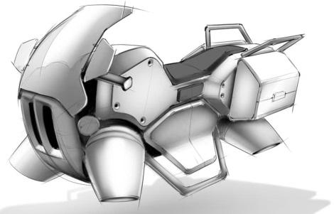 Trysková motorka se čtyřmi motory, jaké používá i Flyboard Air.  Sci-fi? Možná už ne...