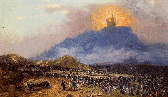 ZpodobnÄ›nĂ Boha na hoĹ™e Sinaj, Jean-LĂ©on GĂ©rĂ´me (Kredit: Graham Phillips Website)
