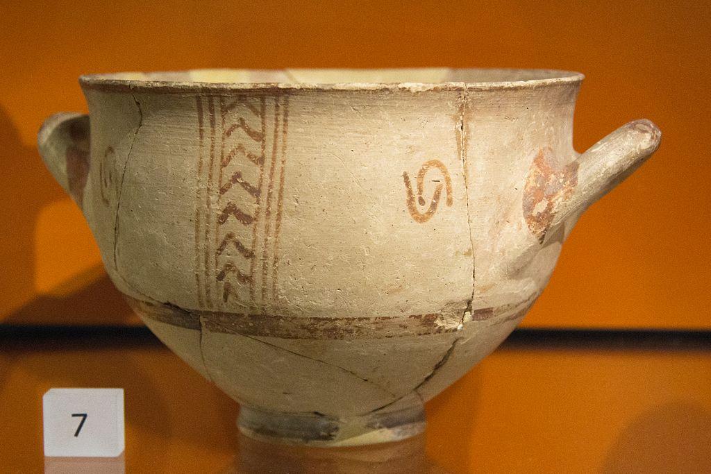 Hluboká miska. LH III B, 1300-1190 před n. l. Ashmolean Museum, Oxford, L 1960.4. Kredit: Zde, Wikimedia Commons. Licence CC 4.0.