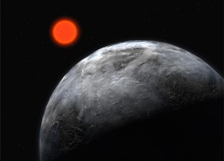 Nejpravděpodobnějším prvním cílem mezihvězdné výpravy bude planeta u rudého trpaslíka (zdroj ESO).