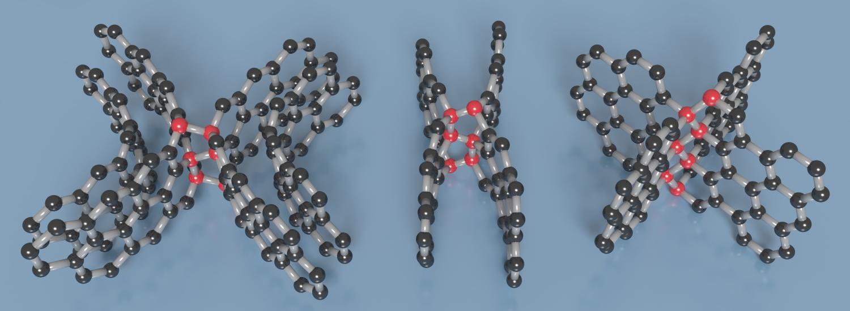 Struktury skelného uhlíku. Kredit: Timothy Strobel.
