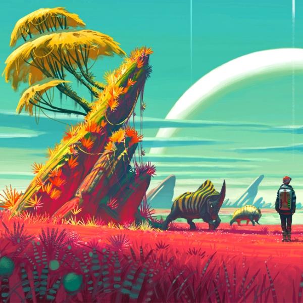 OsĂdlĂme exoplanety Ĺľivotem? Kredit: Hello Games.