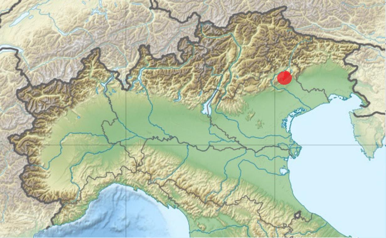 Zuby, které posunuly začátky stomatologie až na konec doby ledové, pocházejí z lokality Villabruna v provinciiBelluno, Itálie.