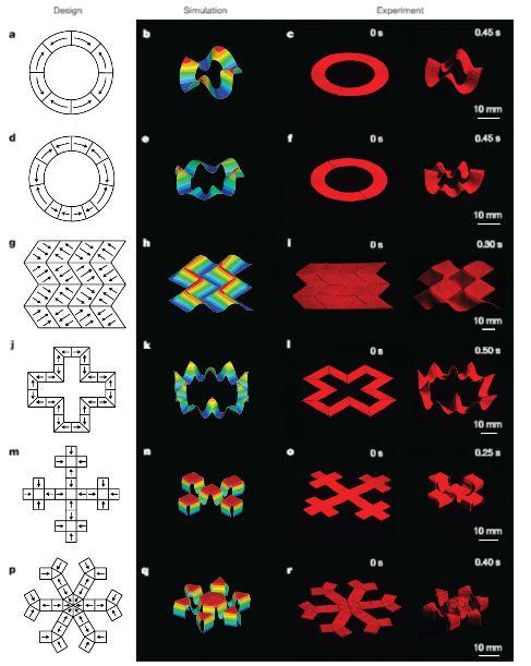 Na počátku je myšlenka – představa tvaru a jeho možných pohybů, pak počítačem vytvořen virtuální model a simulace jeho funkcí. Podle naprogramovaných instrukcí speciální tiskárna vytvoří skutečný objekt. Kredit: Yoonho Kim et al: Printing ferromagnet