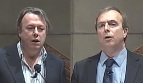 Bratři Christopher Hitchens (1949 – 2011), novinář … a přesvědčený ateista a Peter Hitchens (nar. 1951), také novinář … a přesvědčený křesťan. Oba napsali několik knih. Christopher proti náboženství, Peter za jeho obranu. Před deseti lety se na půdě