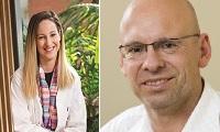 Doktorandka Tahnee Deningová a její školitel, prof. Clive Prestidge. Kredit: University of South Australia