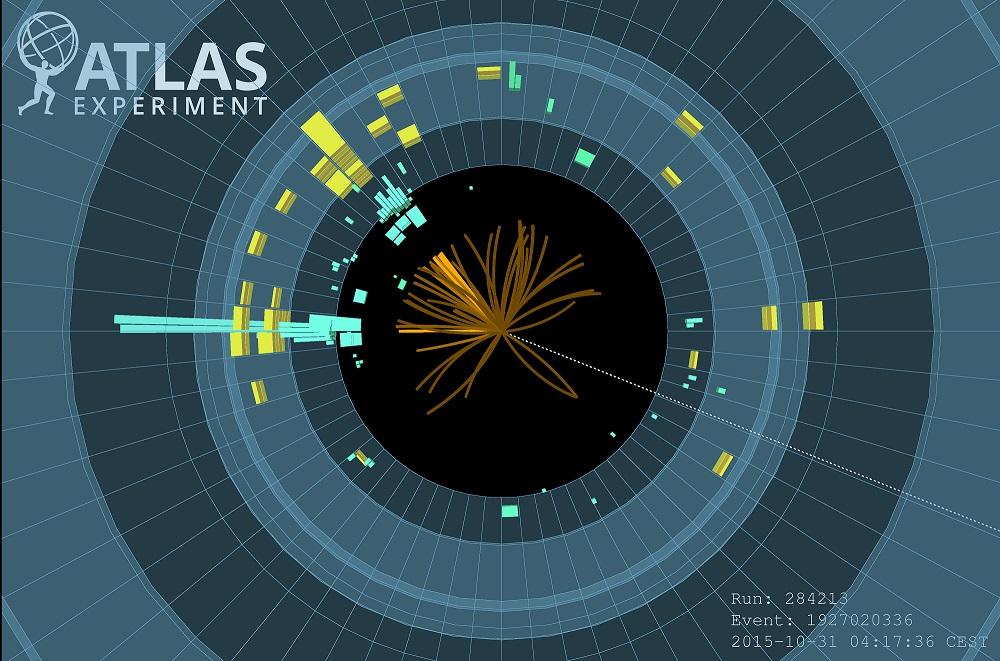 Rozkladová analýza H ? bb na detektoru ATLAS. (Atlas/CERN)