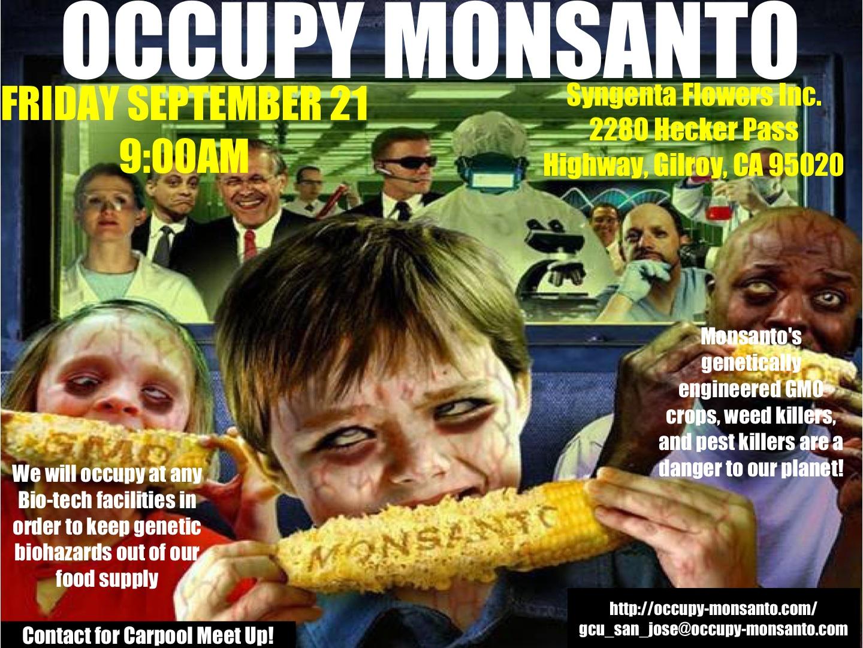 Monsanto to doopravdy nemá jednoduché. Kredit: Occupy Monsanto.