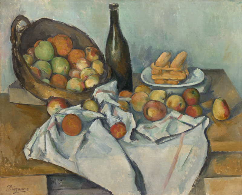 Košík jablek, Paul Cézanne 1895,  Art Institute of Chicago