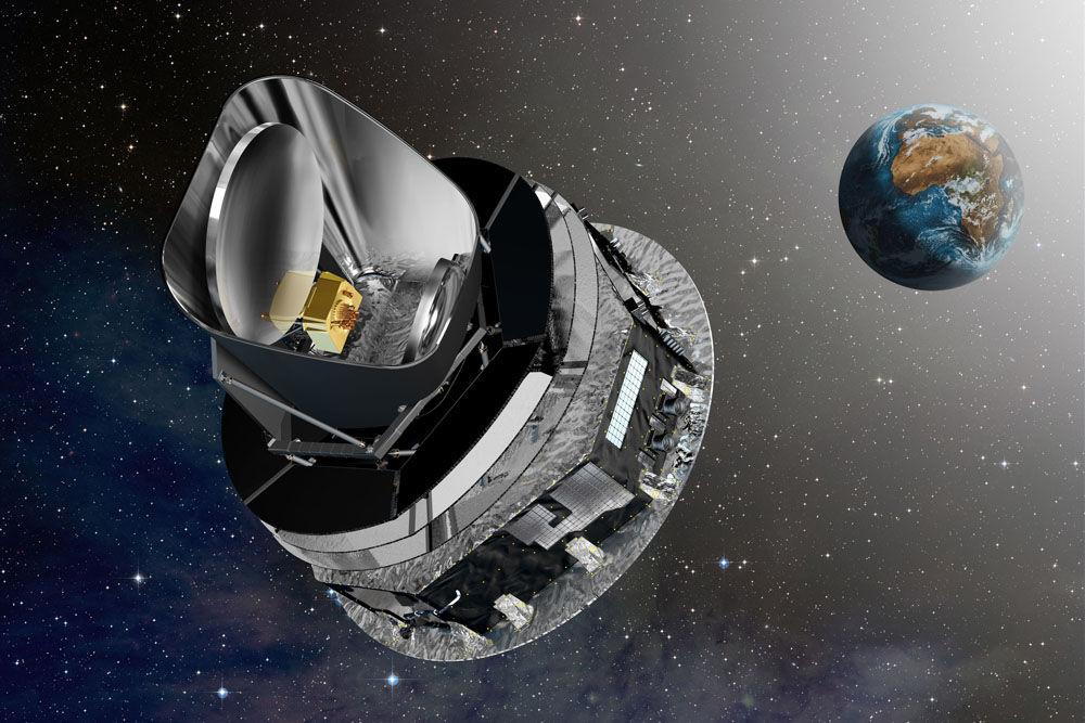 Planck teleskop (Kredit: ESA/D. Ducros)
