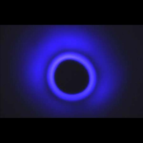 Prstenec plazmatu. Kredit: Mory Gharib/Caltech.