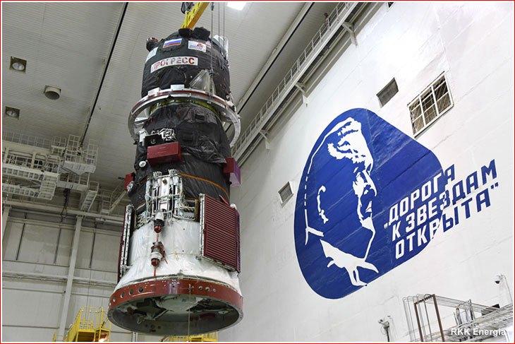 Již natankovaný Progress MS-09. Kredit: http://russianspaceweb.com