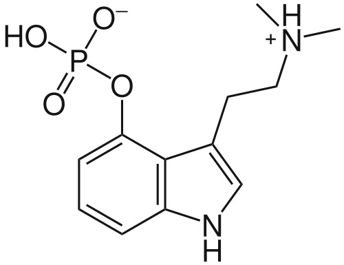 Vzorec psilocybinu.