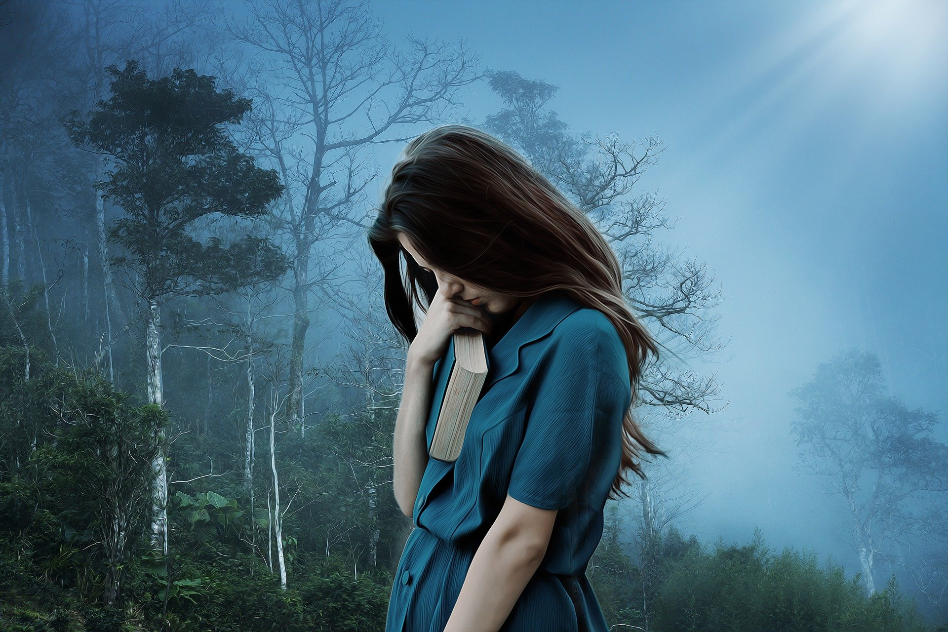 """Deprese si nás obtáčí třemi """"chapadly"""":  somatickým (jeho známkou je i sexuální apetence), afektivním (s pocitem blbé nálady) a výkonnostním (zhoršující naše  psychomotorické tempo, zvýšenou únavnost a ztrátu energie). Kredit: CC0 Public domain."""
