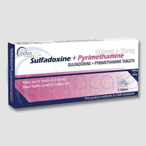Sulfadoxin-pyrimetamin, používaný pri chemoprofylaxii malárie
