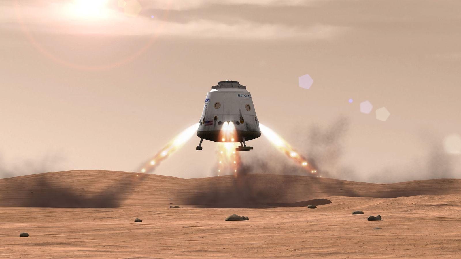 Elon Musk si dělá zálusk na Mars. Kredit: SpaceX.