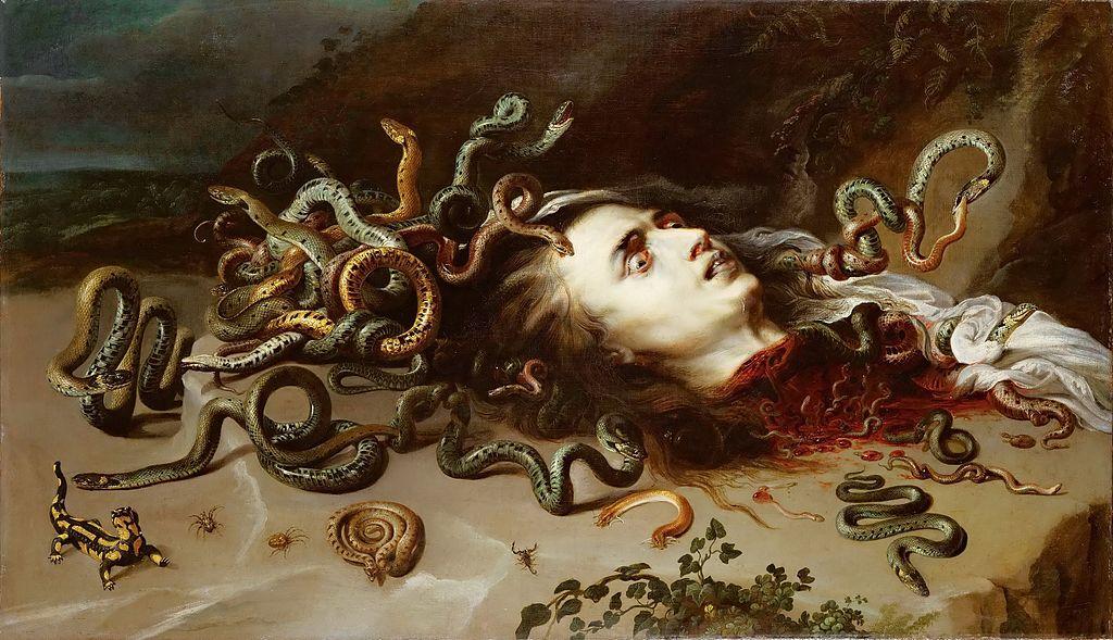 Uťatá hlava Medúsy od Rubense. Kredit: volně dostupné.