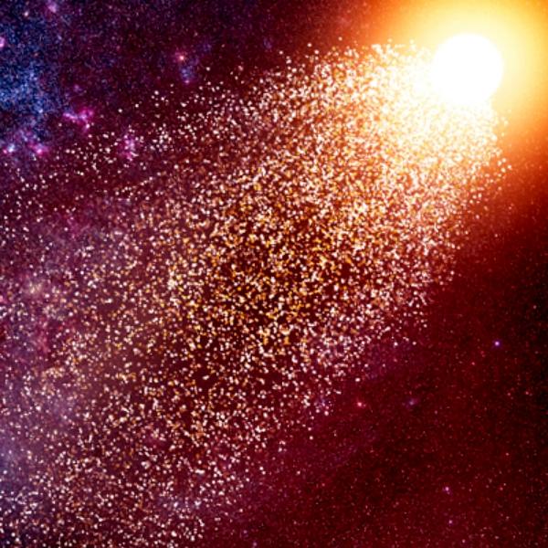 Splašená hvězda. Kredit: Amanda Smith / Institute of Astronomy.